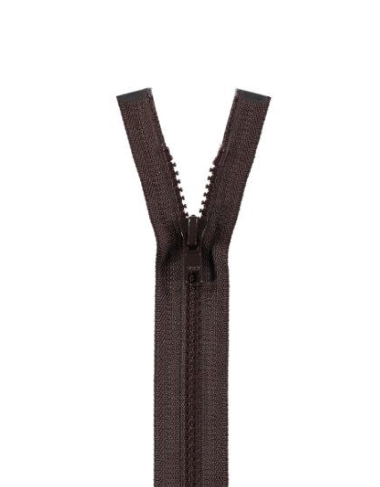 YKK BLOKRITS 5 DEELBAAR bruin 570-55cm