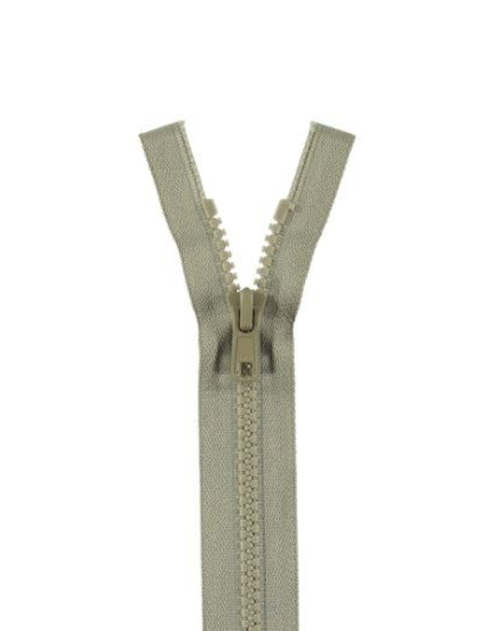 YKK BLOKRITS 5 DEELBAAR licht grijs 576-60cm