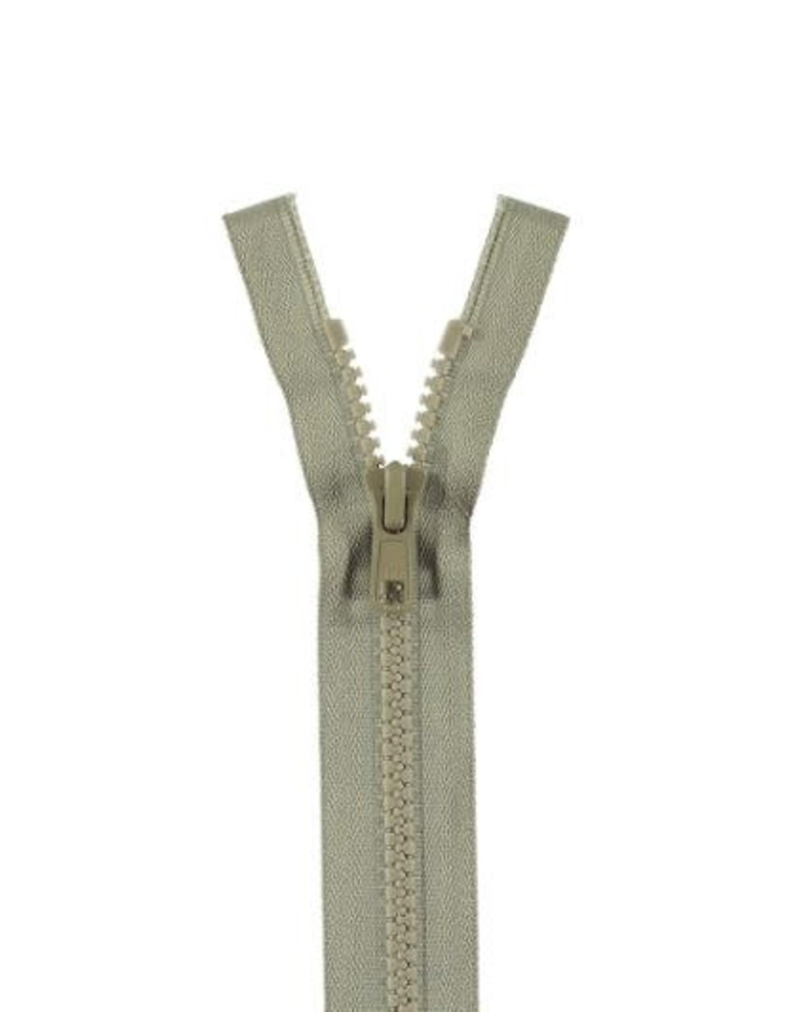 YKK BLOKRITS 5 DEELBAAR licht grijs 576-65cm
