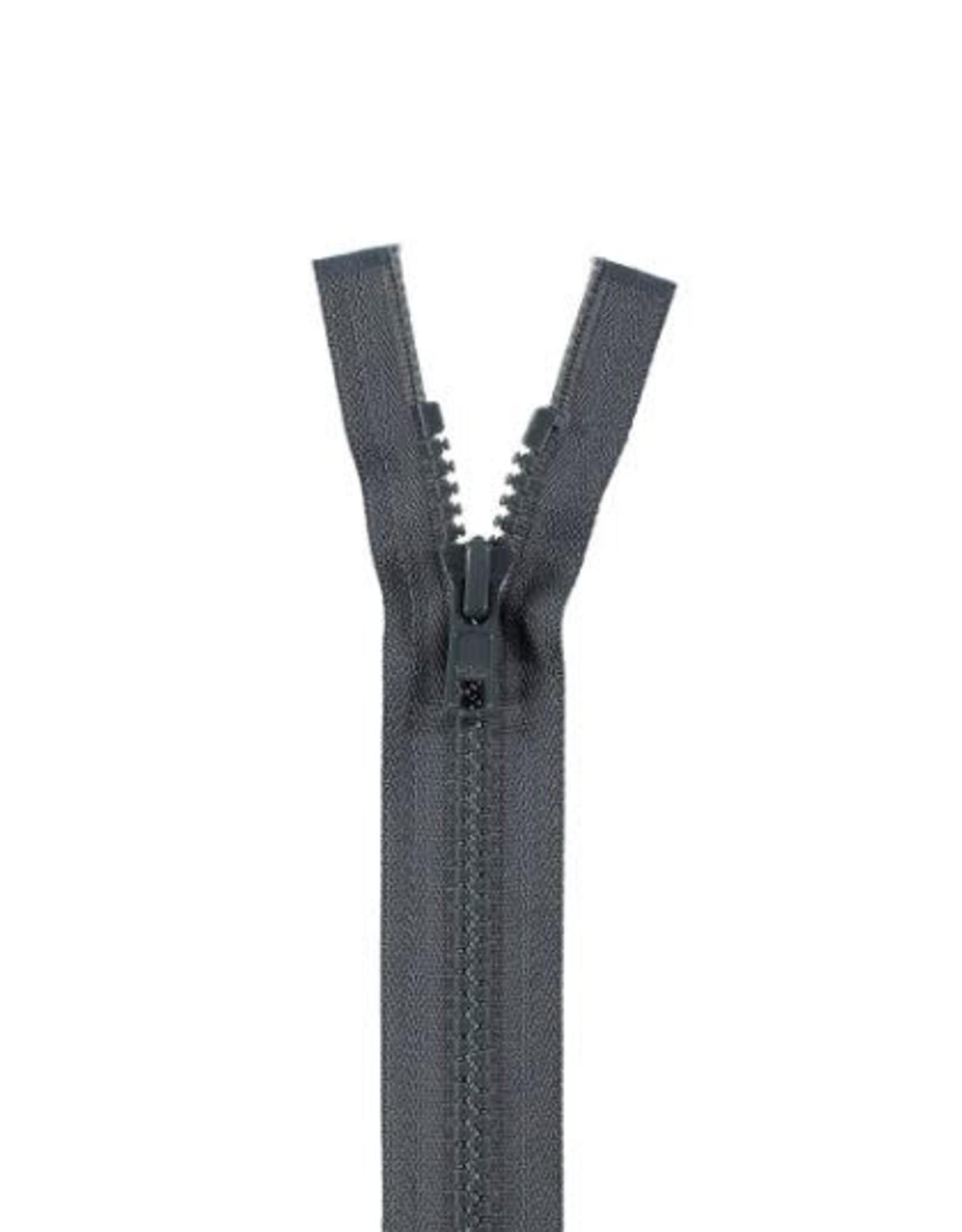 YKK BLOKRITS 5 DEELBAAR d. grijs 579-80cm