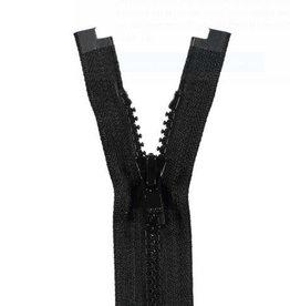 YKK BLOKRITS 5 DEELBAAR zwart 580-55cm