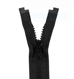 YKK BLOKRITS 5 DEELBAAR zwart 580-90cm