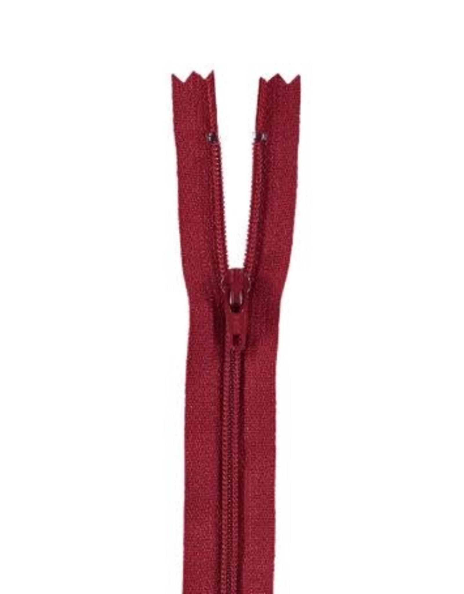 YKK Spiraalrits niet-DB 3mm donker rood 520-12cm