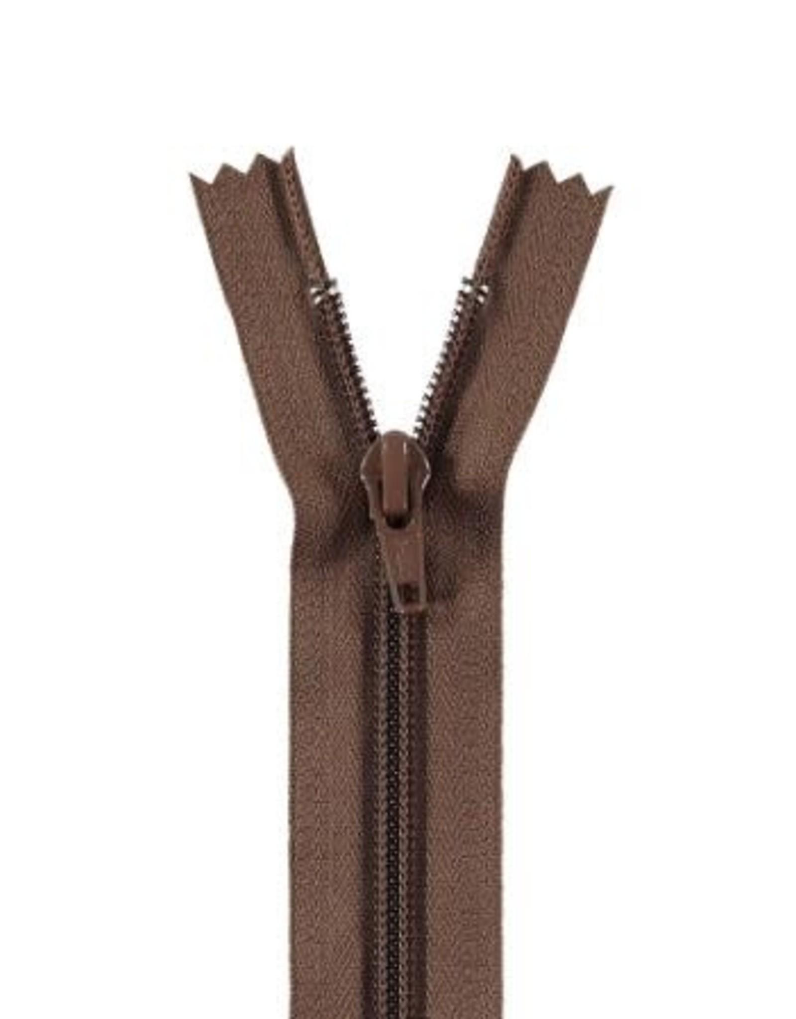 YKK Spiraalrits niet-DB 3mm bruin 568-18cm