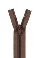 YKK Spiraalrits niet-DB 3mm bruin 568-55cm