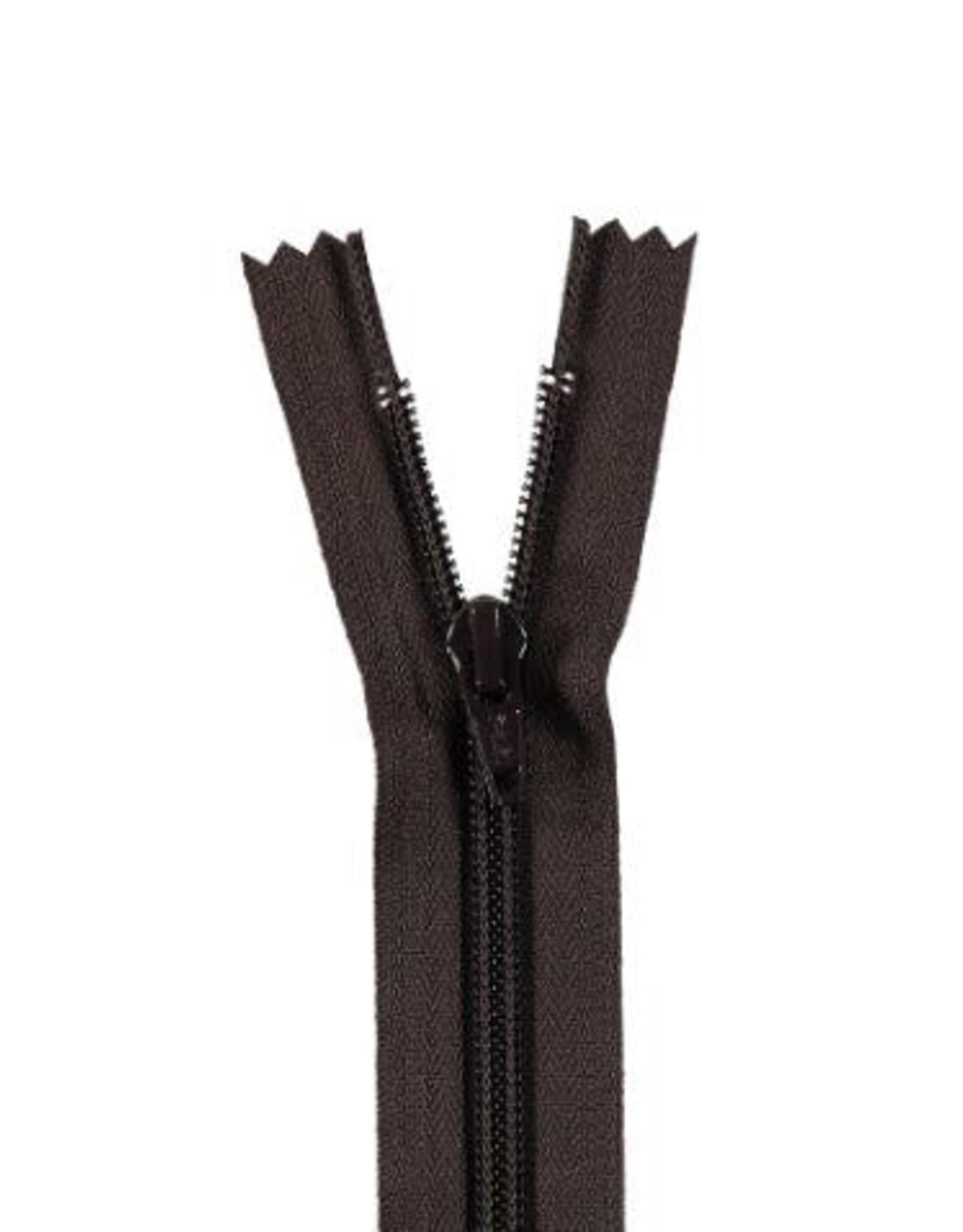 YKK Spiraalrits niet-DB 3mm donker bruin 570-22cm