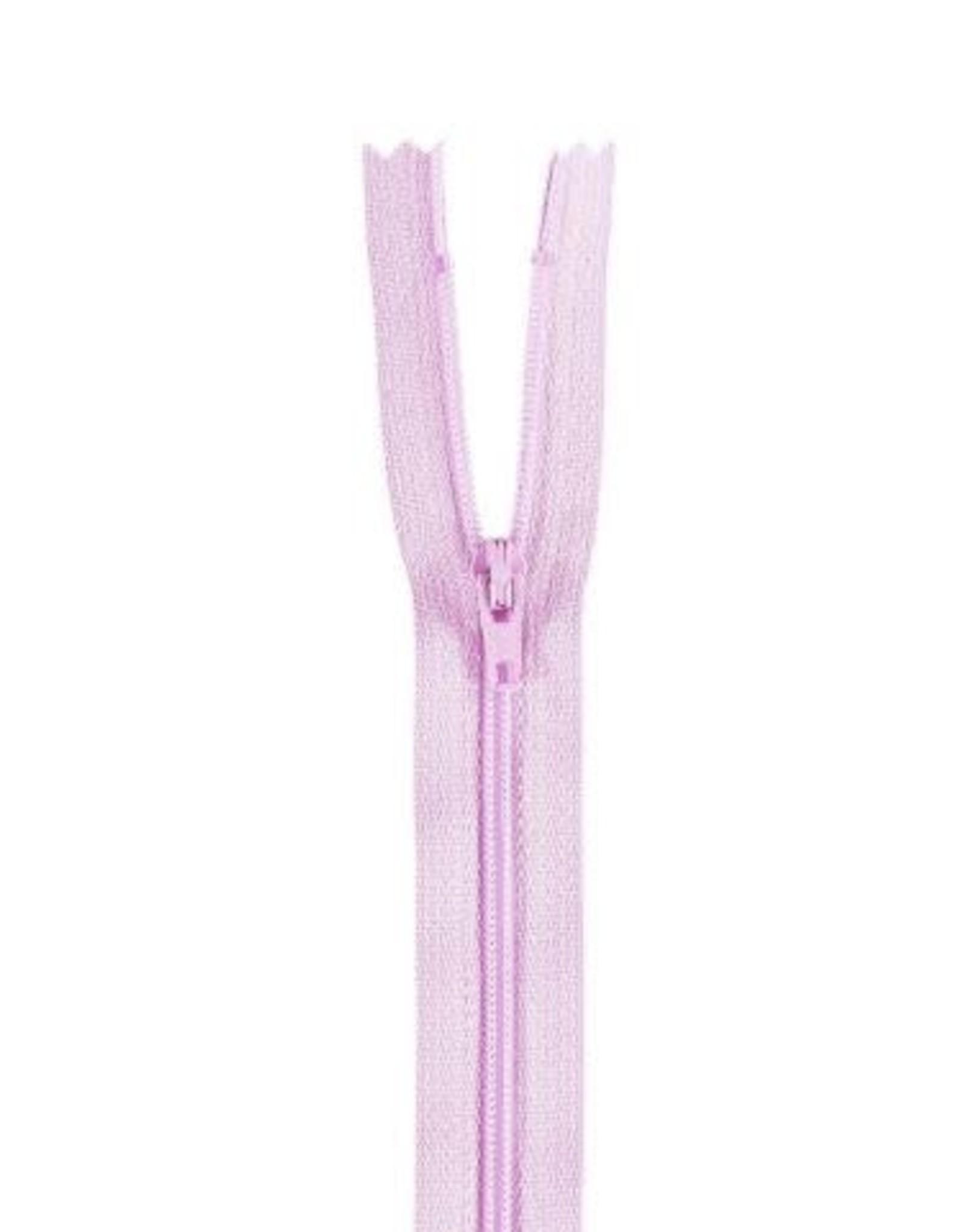 YKK Spiraalrits niet-DB 3mm licht roze paars 068-18cm
