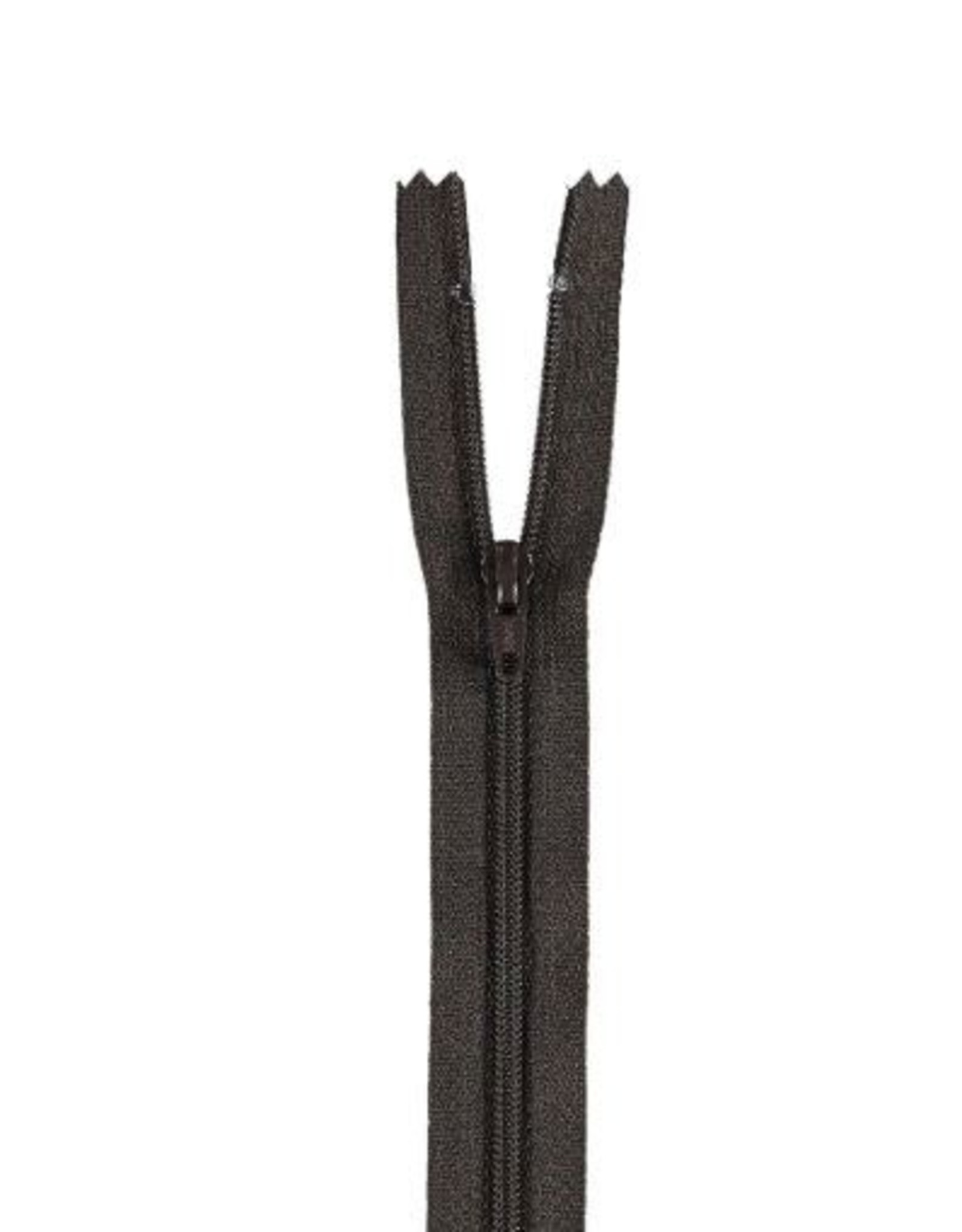 YKK Spiraalrits niet-DB 3mm zwart bruin 916-12cm