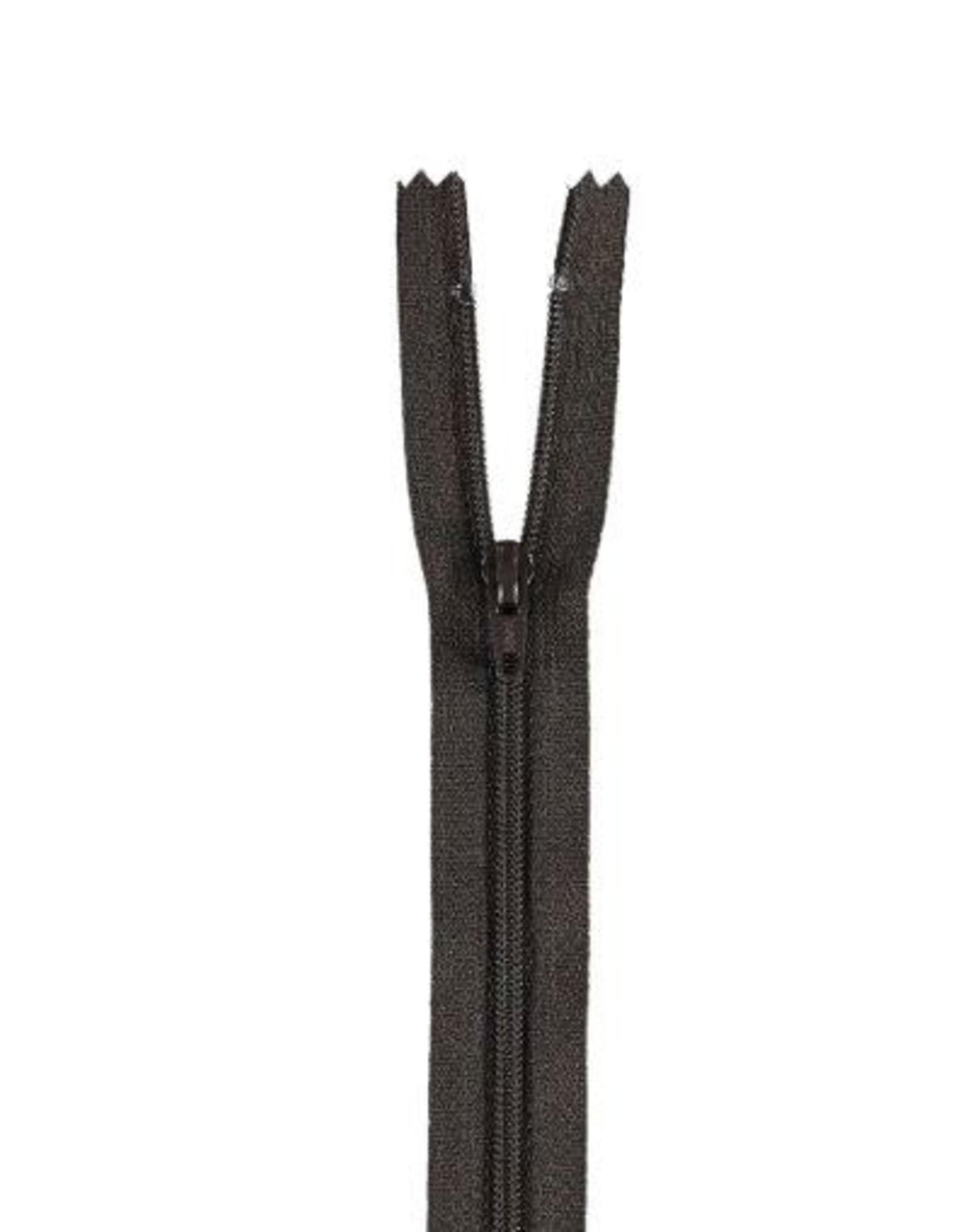 YKK Spiraalrits niet-DB 3mm zwart bruin 916-22cm