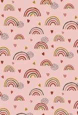 Poppy Tricot katoen GOTS rainbow roze
