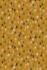 Poppy *Tricot katoen glitter dots oker