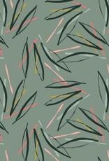 Poppy French Terry stripes munt