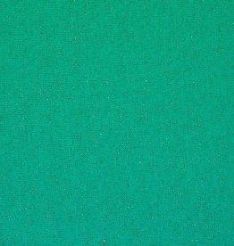 Poppy *Boordstof lurex glitter aqua groen