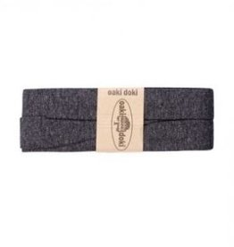 Oaki Doki Biais tricot de luxe Oaki Doki donker grijs melange  068