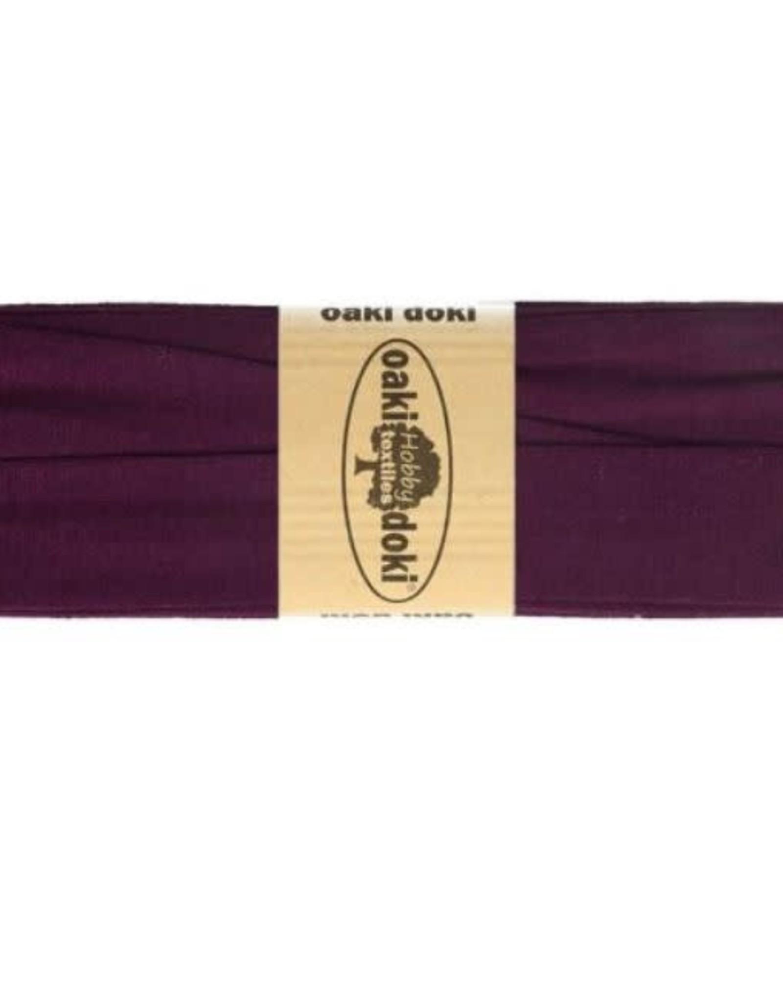 Biais tricot de luxe Oaki Doki paars bordeaux 919