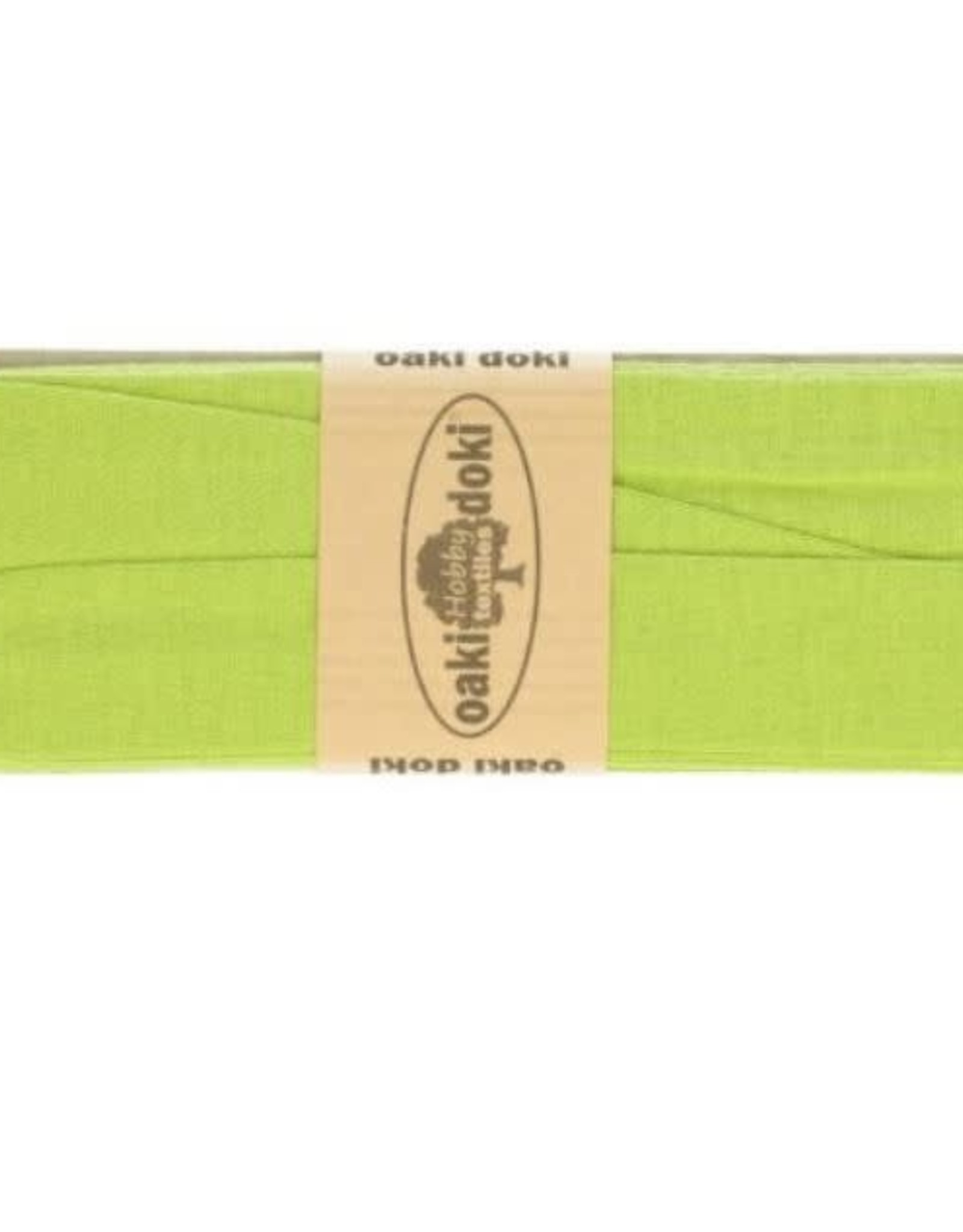 Biais tricot de luxe Oaki Doki lime 448