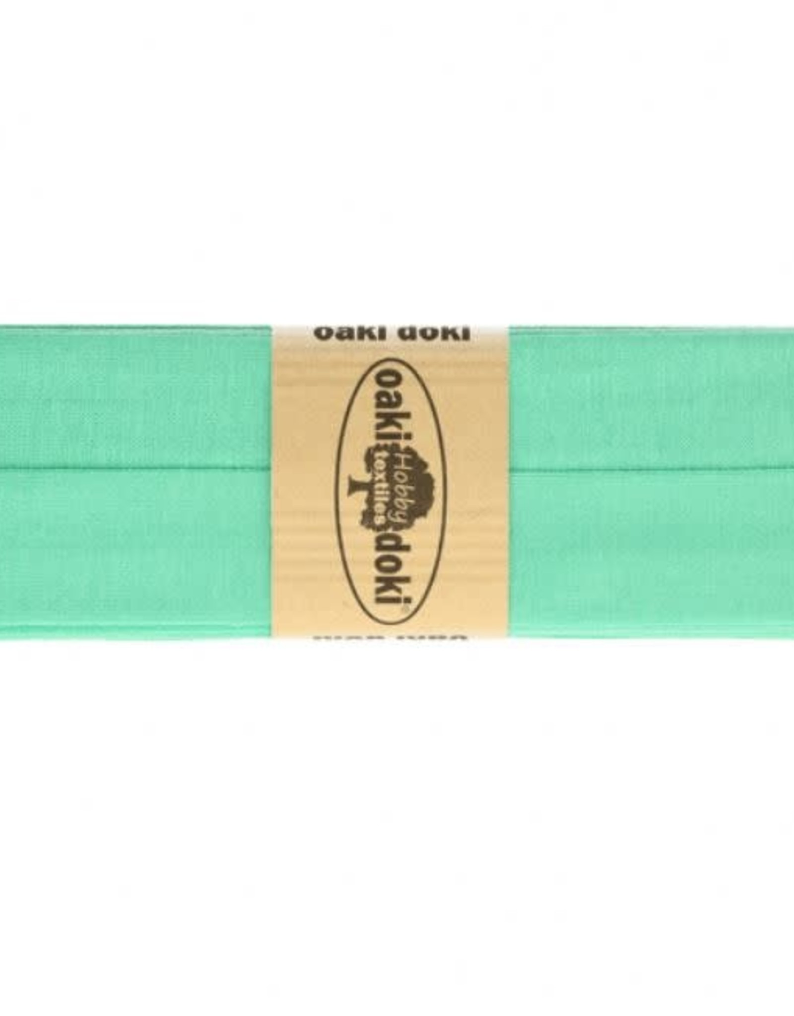 Biais tricot de luxe Oaki Doki donker munt 122