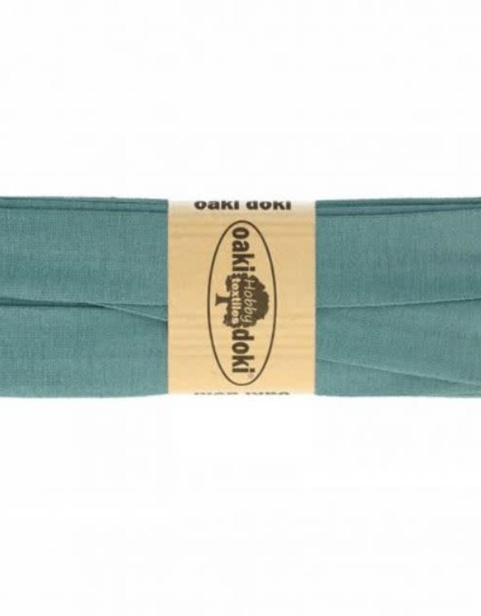 Biais tricot de luxe Oaki Doki licht petrol 245