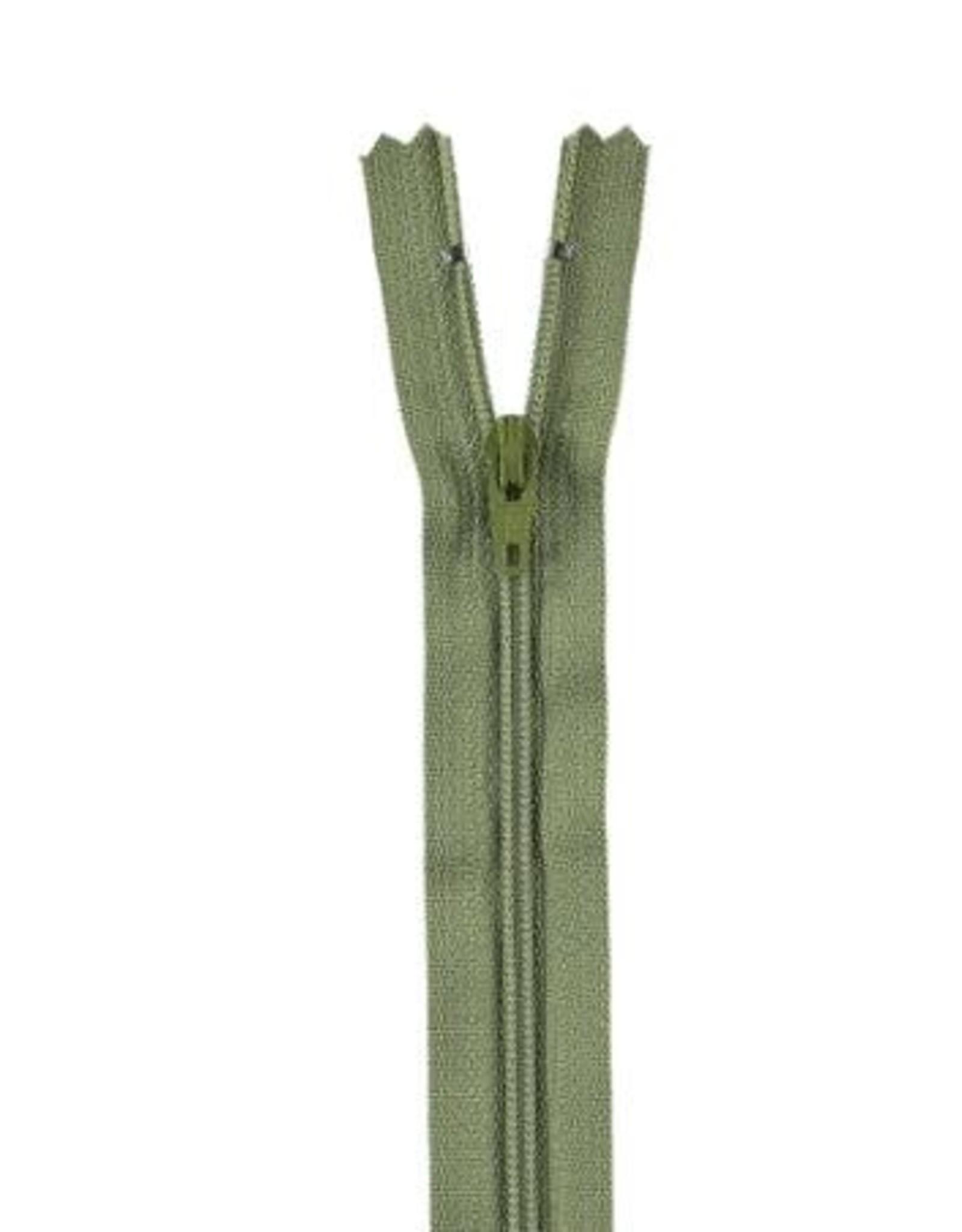 YKK Spiraalrits niet-DB 3mm mosgroen 888-22cm