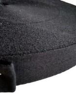 Keperband katoen zwart 14mm voor mondmaskers per 10 meter