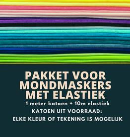Pakket voor mondmaskers met elastiek(12-16st)