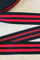 Elastiek 25mm zwart rood