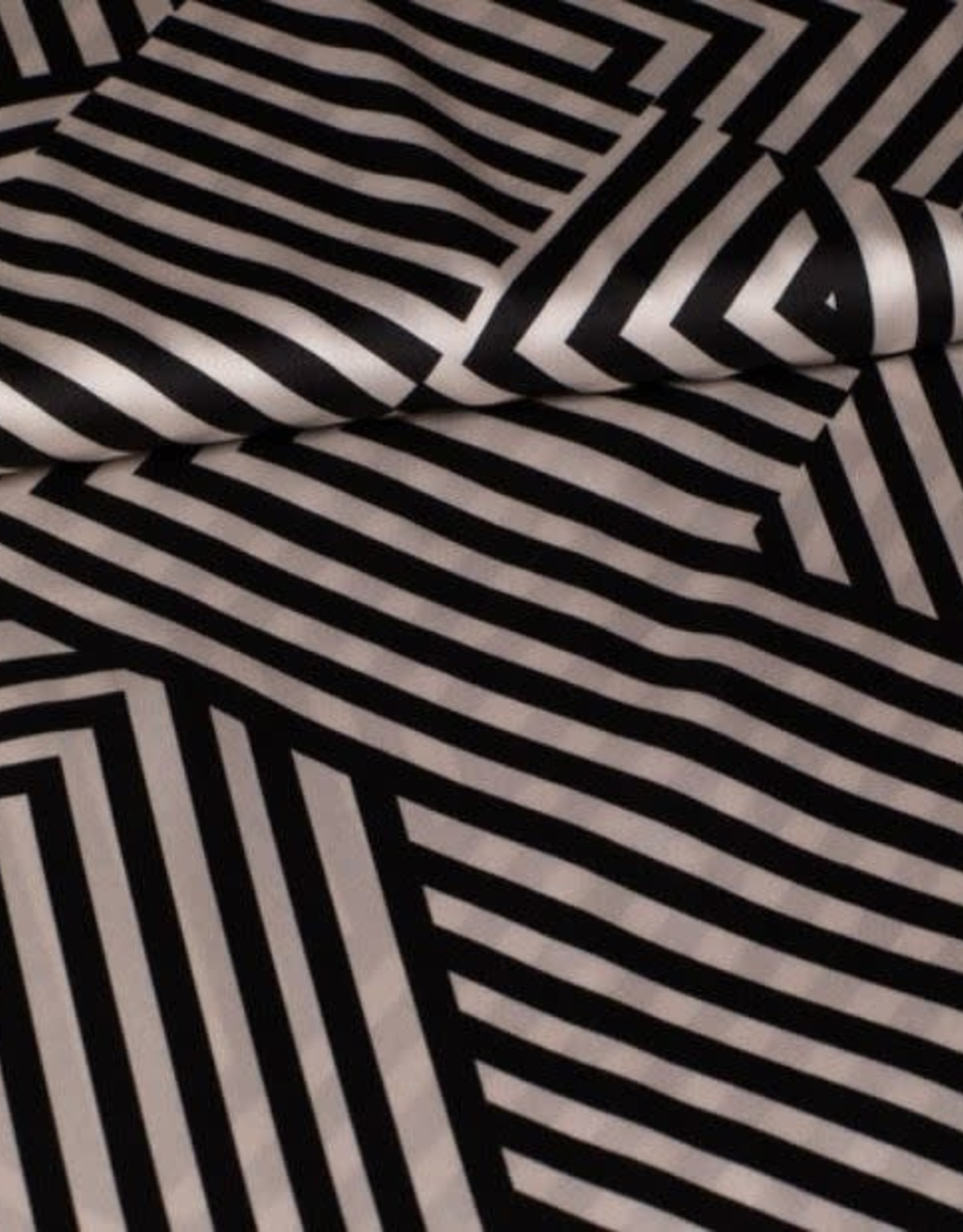 Fibre Mood *Polyester Indira stripes zwart wit
