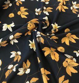 Fibre Mood Polyester sp flowers navy