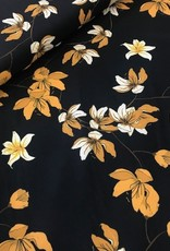 Fibre Mood Polyester sp flowers navy