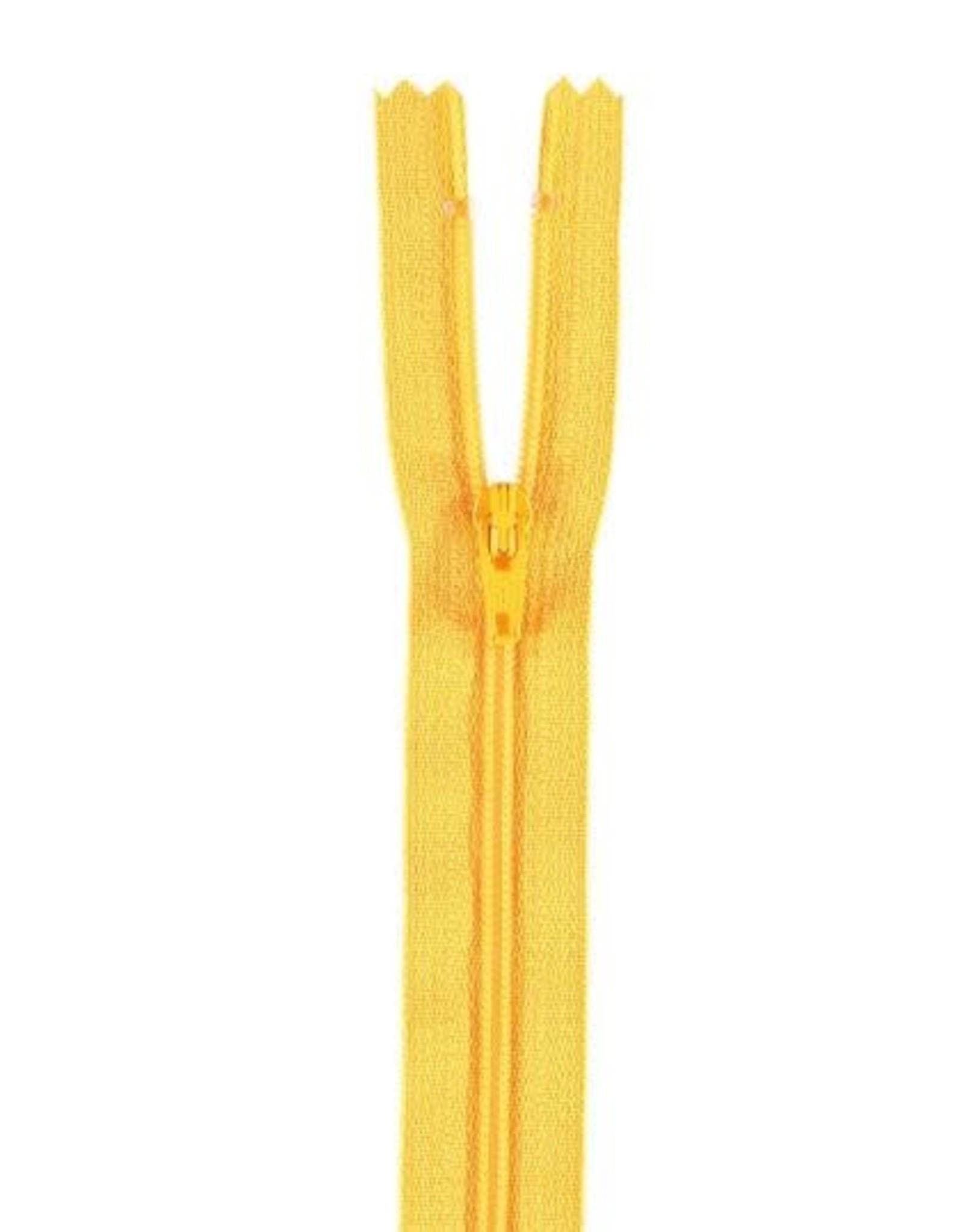 YKK Spiraalrits niet-DB 3mm geel 506-50cm