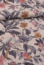 Swafing *Viscose linnen lizzy flowers
