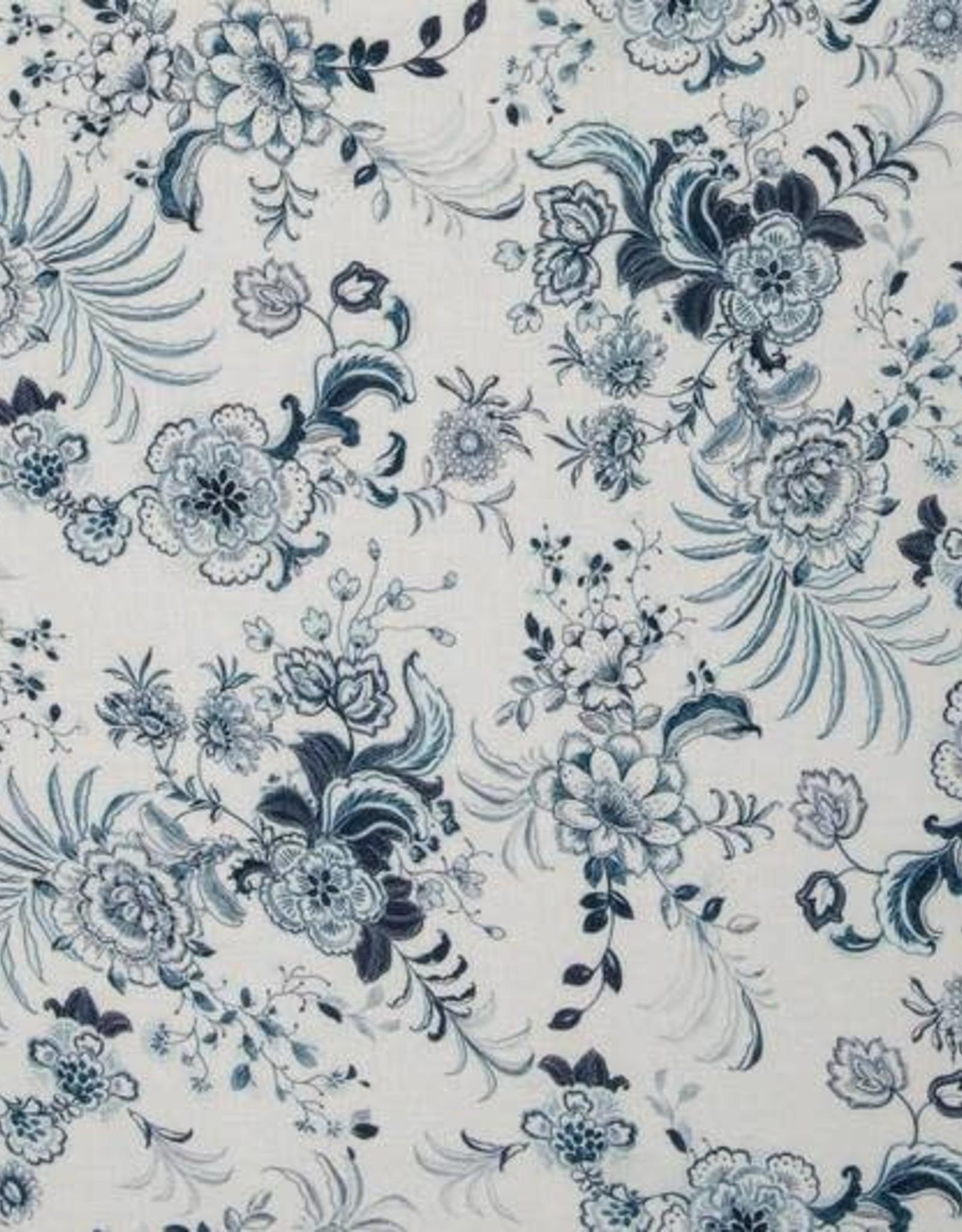Swafing *Viscose linnen lizzy blauw groen