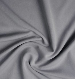 *Gabardine stretch zilver grijs