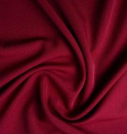 *Gabardine stretch donker rood