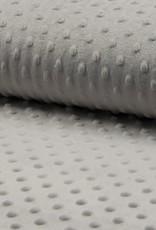 Minky fleece silver grey