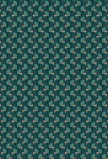 *Polyester pearl peach groen