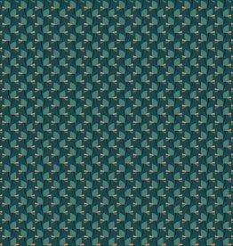 Polyester pearl peach groen