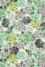 Poppy *Tricot katoen leaves wit