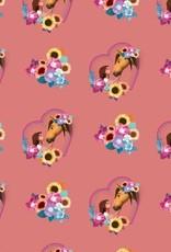 Poppy *Tricot katoen digital spirit roze