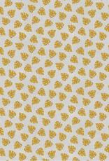 Poppy Viscose linnen leaves beige