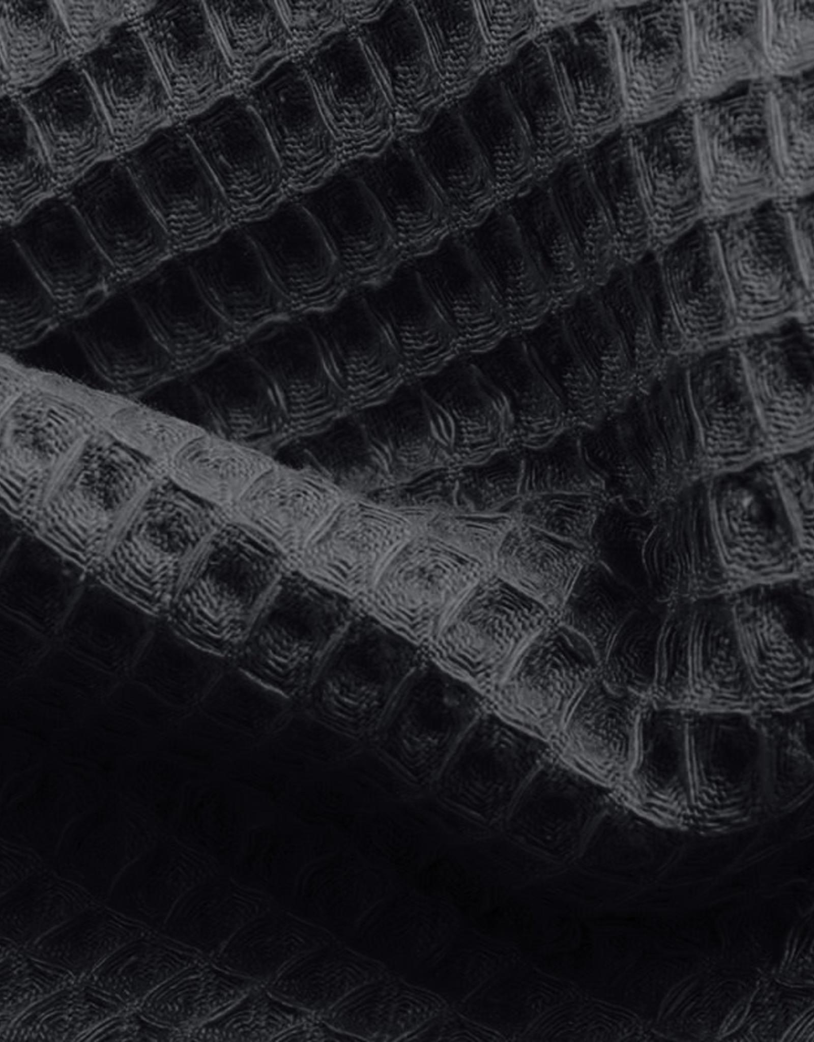 Wafeldoek uni donker grijs