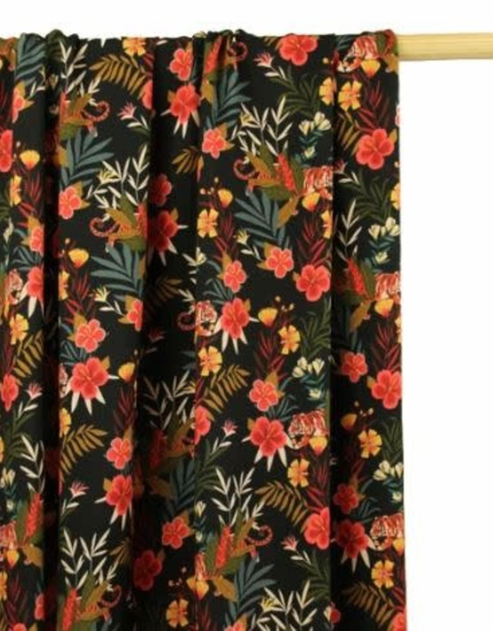 Atelier Jupe Viscose kleurrijke jungleprint