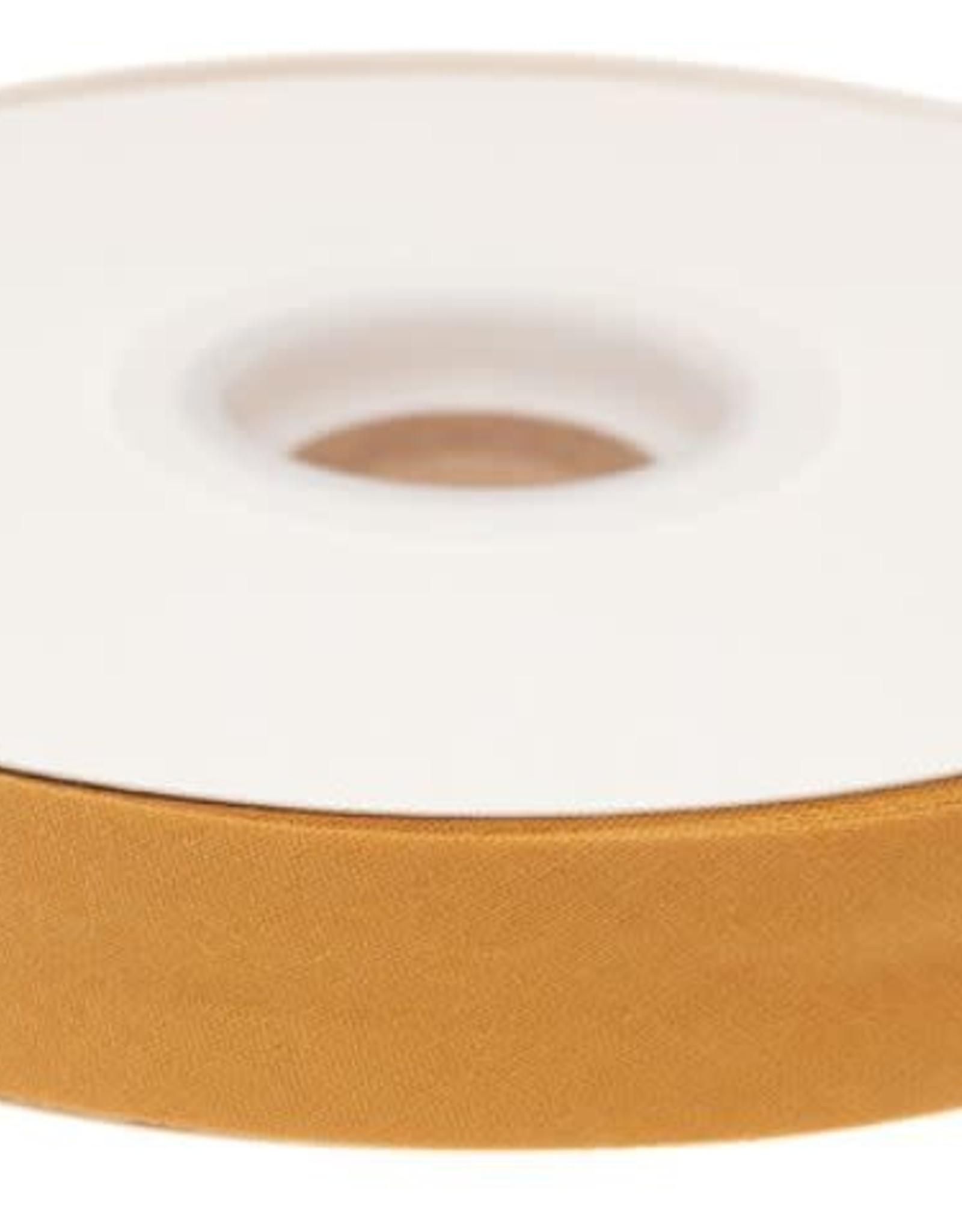 Biaisband 20mm gevouwen mosterd geel