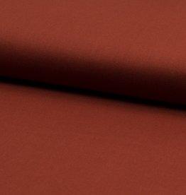 Poplin katoen Uni - roest