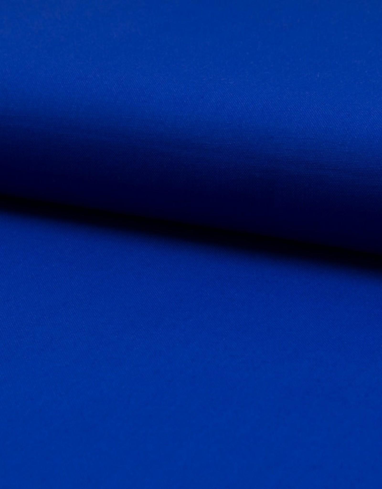 Poplin katoen uni royal blue