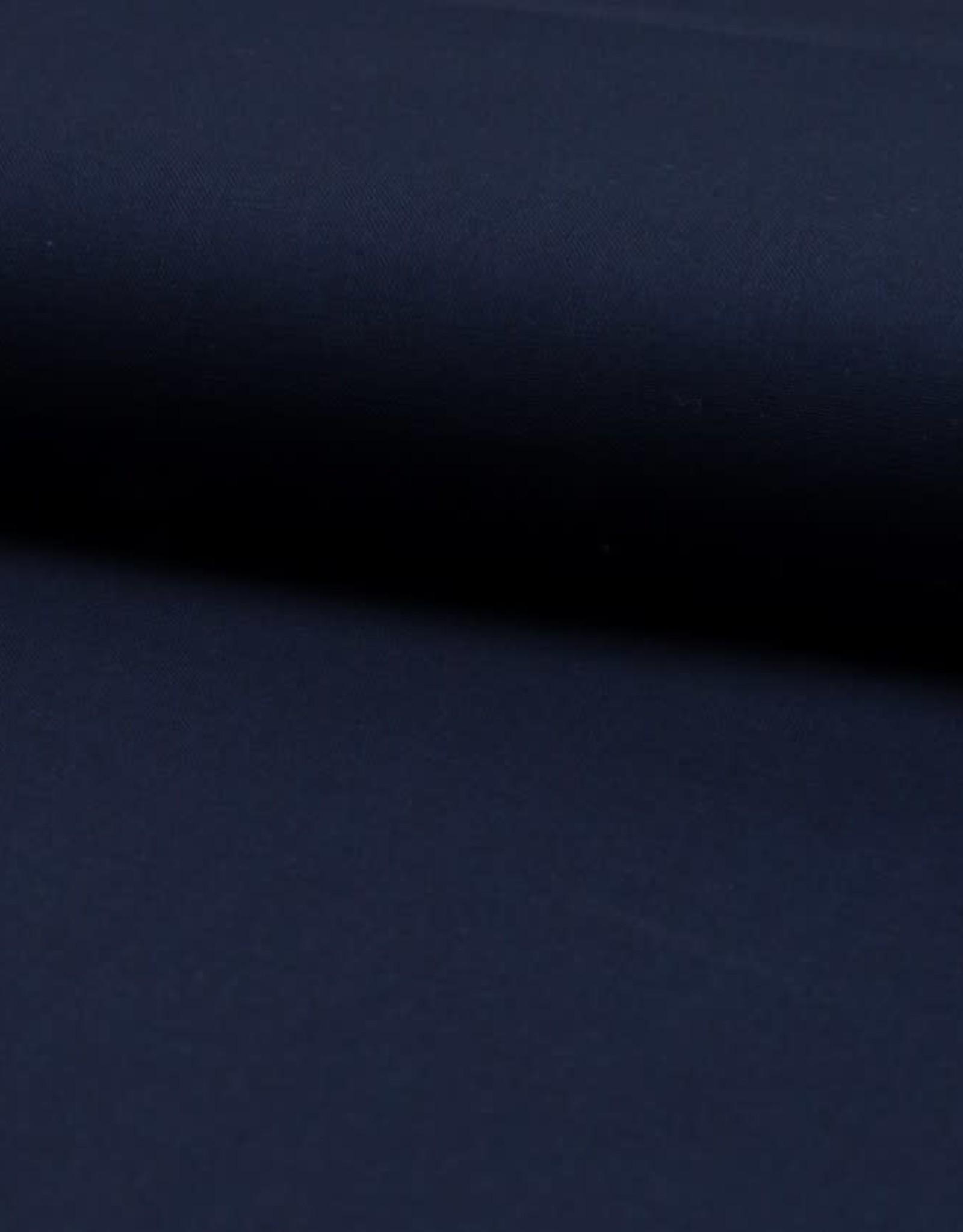 Poplin katoen Uni donker blauw