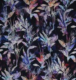 *Cupro flowers paars