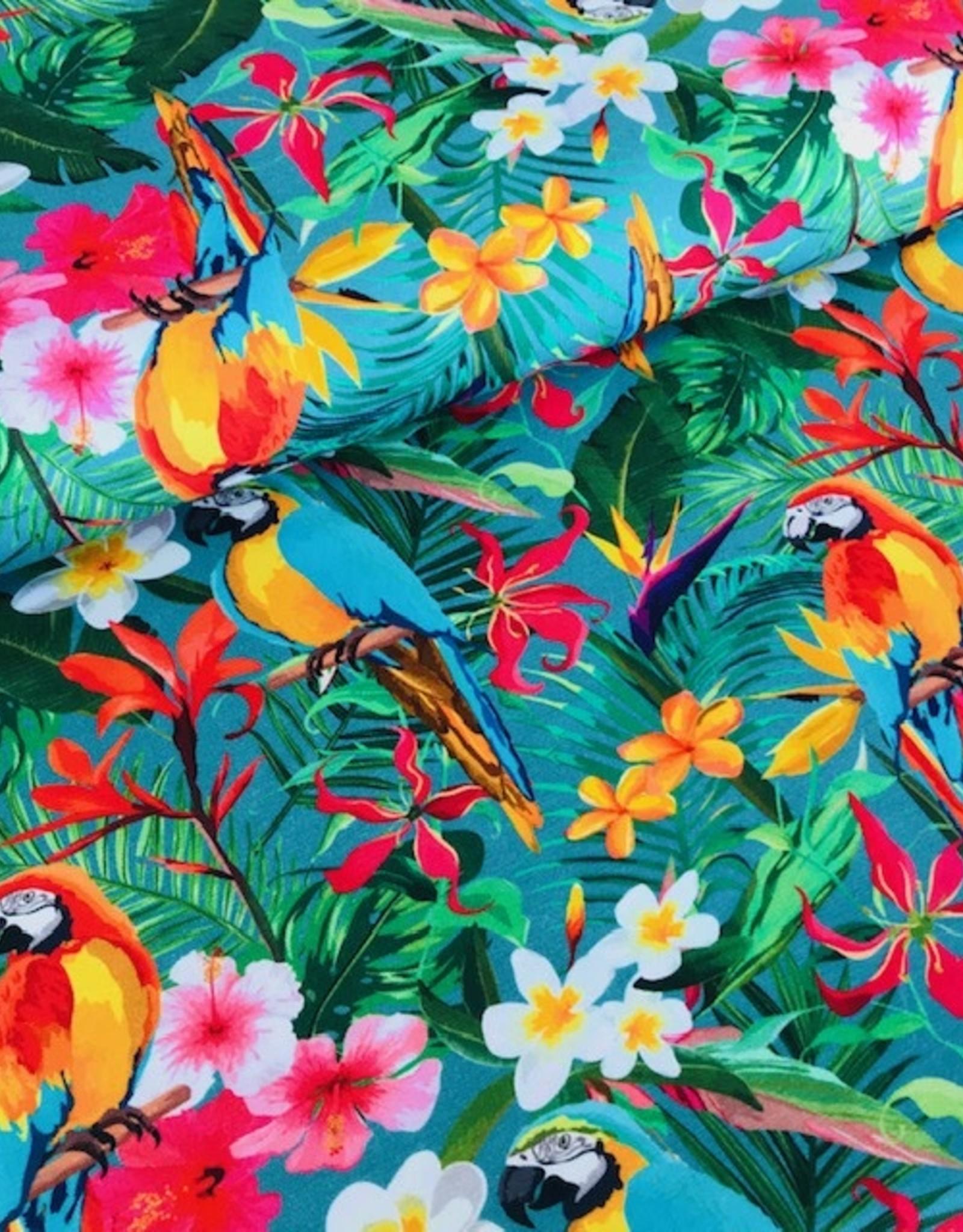 Stenzo Tricot katoen papagaai munt