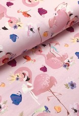 Stenzo *Tricot katoen cute flamingo roze