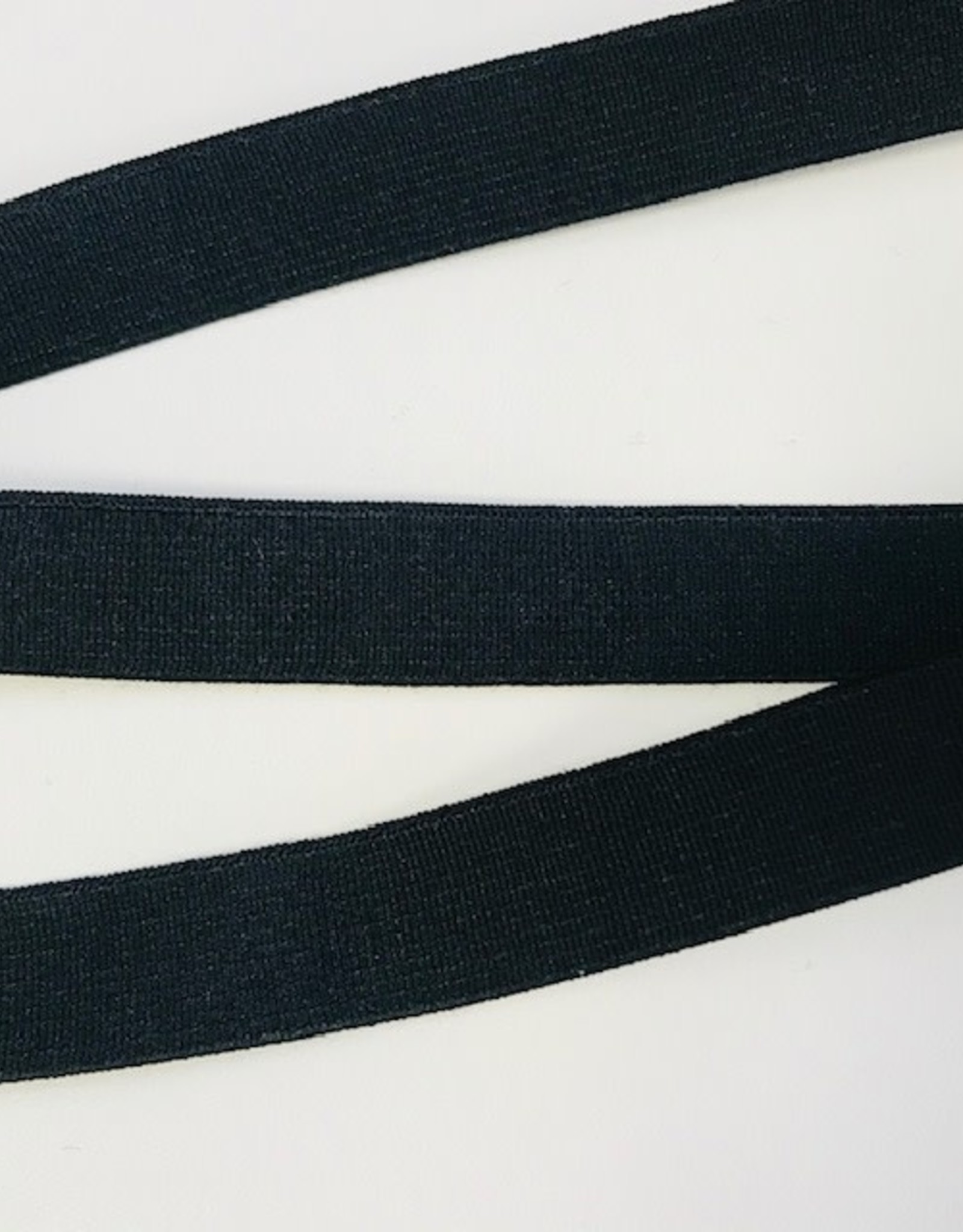 GEWEVEN ELASTIEK zacht 20mm zwart
